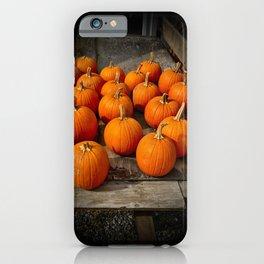 Carving Pumpkins iPhone Case