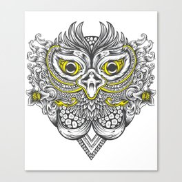 Owl in colors Canvas Print