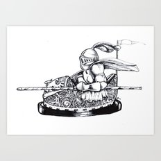 Knight cart bumper Art Print