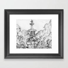Bronx Zoo: Rockefeller Fountain Framed Art Print