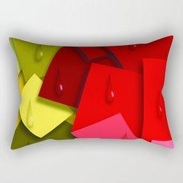 Squares and Tears Rectangular Pillow