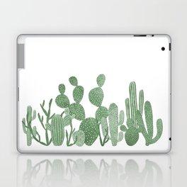 Green cactus garden on white Laptop & iPad Skin