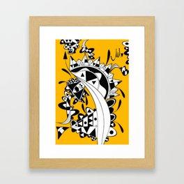 YELLOW TRIANGLE  Framed Art Print