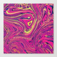 psychedelic Canvas Prints featuring Psychedelic by Idle Amusement
