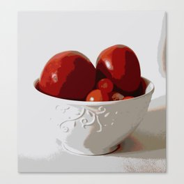 Tomatoes in Bowl   Still Life   Food Photography   Nadia Bonello Canvas Print