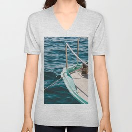 BOAT - WATER - SEA - PHOTOGRAPHY Unisex V-Neck