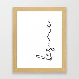 bésame Framed Art Print