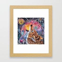 Coyotes Tells a Story Framed Art Print