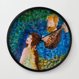 You paint my entire world Wall Clock