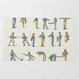 Room gymnastics - Vintage Chart Rug
