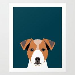 Bailey - Jack Russell Terrier phone case art print gift for dog people Jack Russell Terrier owners Art Print