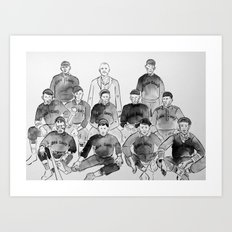 Cuban Giants in 1909 Art Print