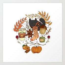 autumn essentials Art Print