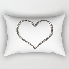 Liquid Metal Heart Shaped Frame Rectangular Pillow