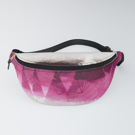 Modern Wine Geometrical Pattern Abstract Fanny Pack
