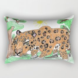 Indian Leopard Rectangular Pillow