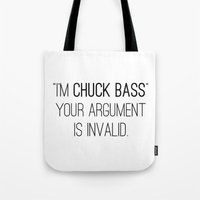 gossip girl Tote Bags featuring GOSSIP GIRL | I'm Chuck Bass by fepersiani