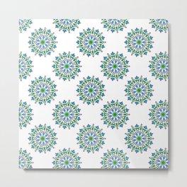 Mandala - cool colours Metal Print