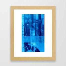 WY blue print Framed Art Print
