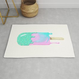 Melty ice cream painting Rug