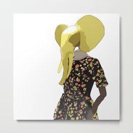 Elephant Couture Metal Print