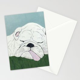 Bulldog Nap Stationery Cards