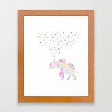 MAKE ME HAPPY ELEPHANT  Framed Art Print