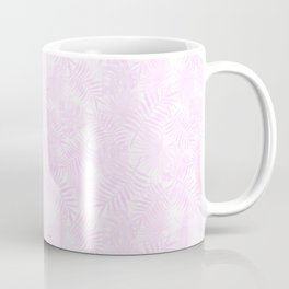 Pale Pastel Pink Monstera and Palm Leaves Coffee Mug