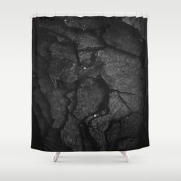 Black Texture (Black and White) Shower Curtain
