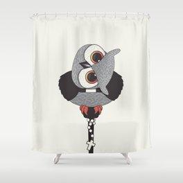 Exorcist Owl Priest Shower Curtain