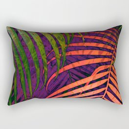 COLORFUL TROPICAL LEAVES no1 Rectangular Pillow