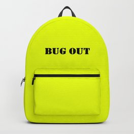 Neon Yellow + Bug Out Bag Design Backpack