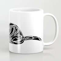ferret Mugs featuring Ferret Design by Tara Prince