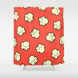 Popcorn Pattern Shower Curtain