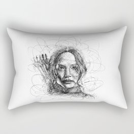 The Mockingjay Lives Rectangular Pillow