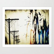 pylons Art Print