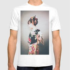 Woman japanese style MEDIUM White Mens Fitted Tee