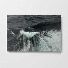 Dark Ocean Wave Metal Print