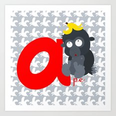 a for ape Art Print