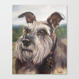 Tori - Portrait of a dog Canvas Print