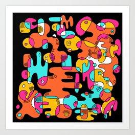 New wave 001 Art Print