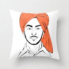 Bhagat Singh #IpledgeOrange Throw Pillow