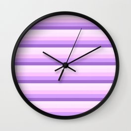 Lavender Ombre Skinny Stripes Wall Clock