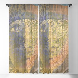 Animal Print Monica Sheer Curtain