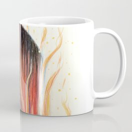 """Blaze"" Fire spirit Watercolour portrait Coffee Mug"