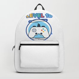Video Gamer Gift Level 18 Complete Video Game Humor Backpack