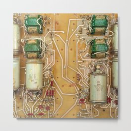 Electronic circuit board Metal Print