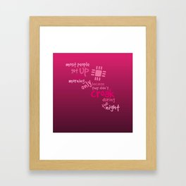 Croak-Pink Framed Art Print