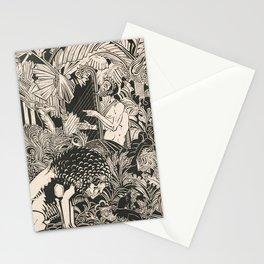 Vintage Jungle Animal Woodcut Stationery Cards