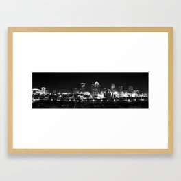 Tampa Skyline Framed Art Print